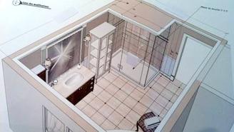 la salle de bain de mme thibodeau chantal couture. Black Bedroom Furniture Sets. Home Design Ideas
